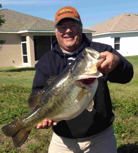 Tom Marks, a Hamburg, New York, resident and professional fishing guide hooked another monster largemouth bass, 10-8, while fishing in Florida. This is the third time Marks caught a bass over 10 pounds in his life, quite a feat!