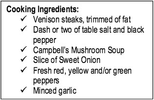 venisonsteak_ingredients