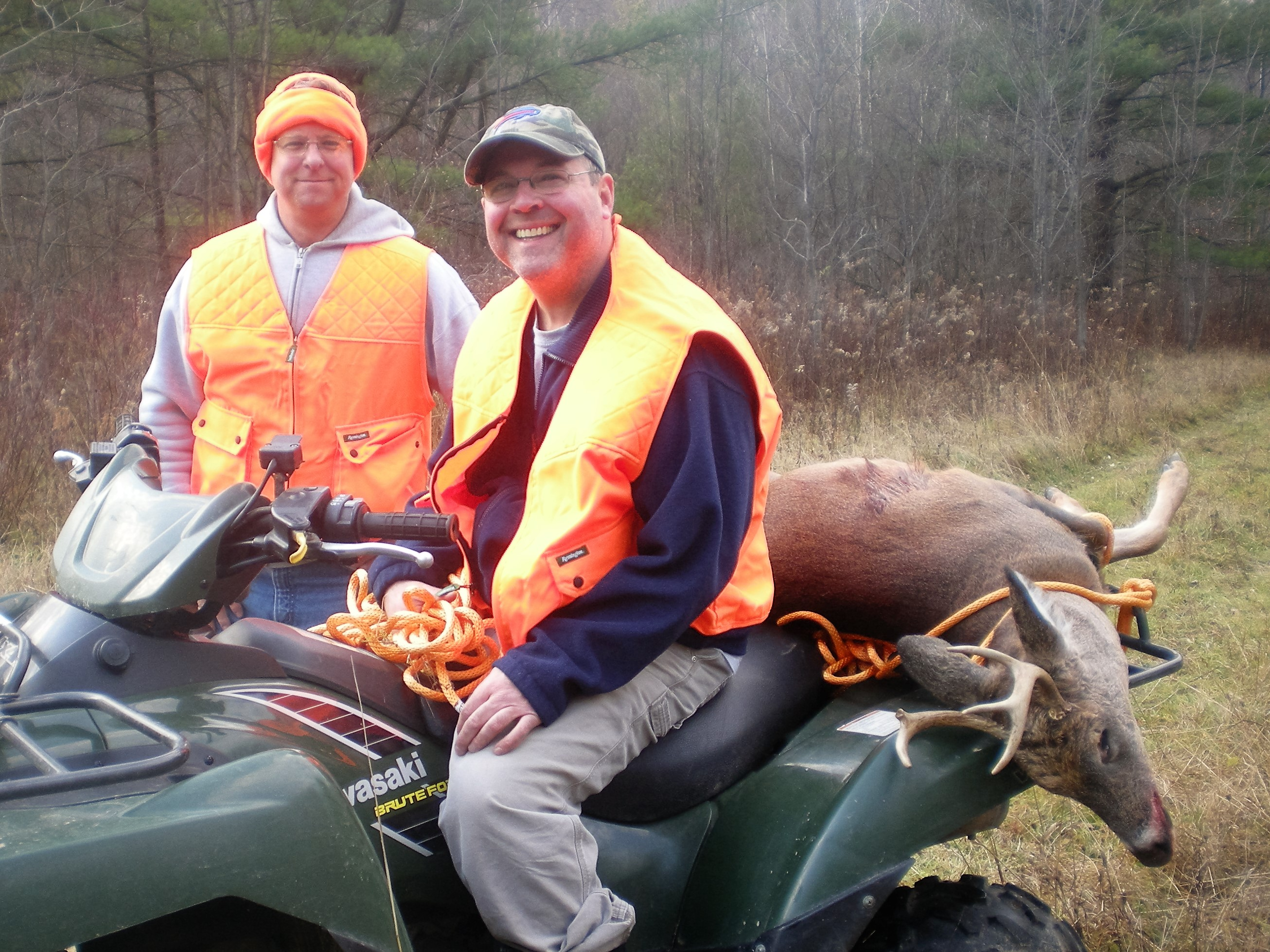 Happy hunters with heavy venison harvests help keep roadways safe and can help fill empty Food Bank Kitchen shelves.  Hunters help everyone.  Forrest Fisher Photo