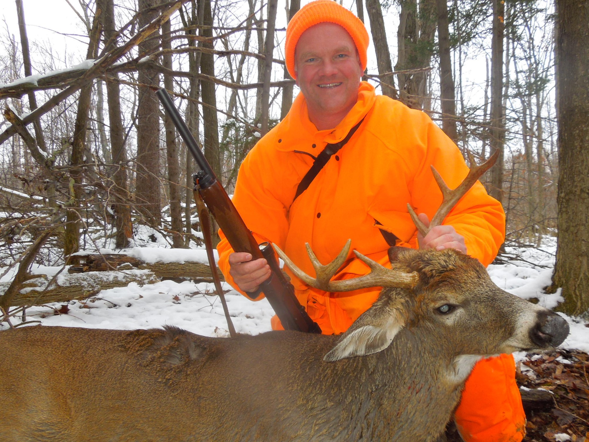 "Dieter Voss says ""Hunting heavy cover on small tract private lands or on state forest public lands can yield big deer harvest results, patience and waiting it out thru the cold is the key."" Forrest Fisher Photo"