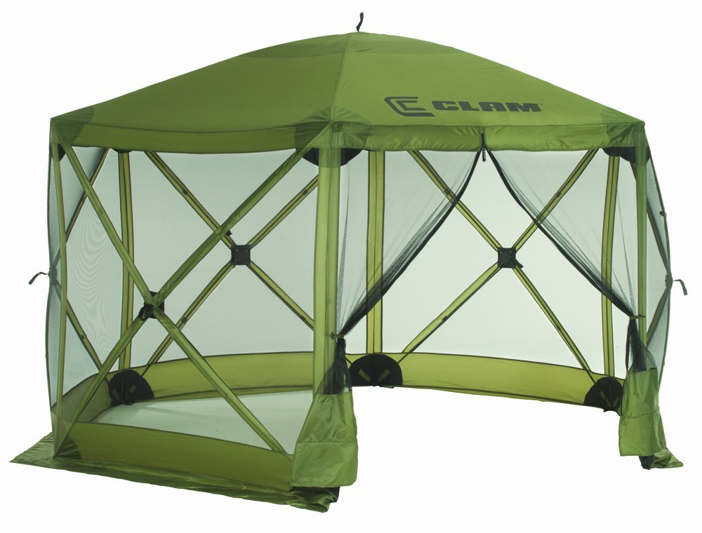The CLAM 1660 Mag Tent Screen is big, safe, light, portable, inexpensive and it provide SPF-50 sun protection and UV protection too.