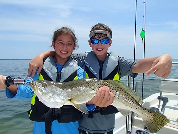 Spotted Sea Trout (Speckled Trout) are among favorite fish to catch off the Florida Coast. FWC Photo