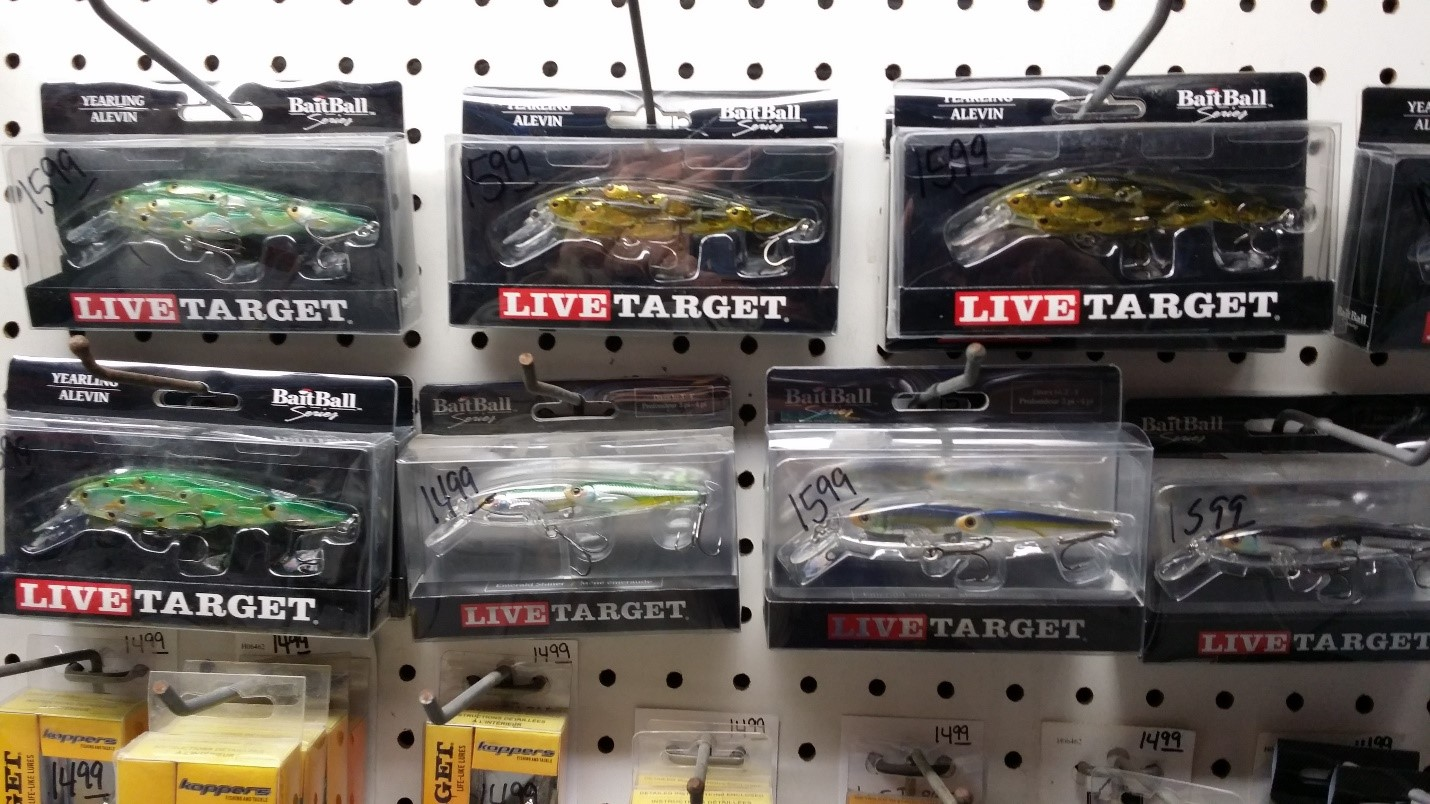 "The full-wall lure selection of LiveTarget Lures at Fish'n Frank's in Port Charlotte, Florida, was impressive and I soon began to understand the whole philosophy idea behind the ""Target"" concept of this lure company that helped me to catch more fish. Forrest Fisher Photo"