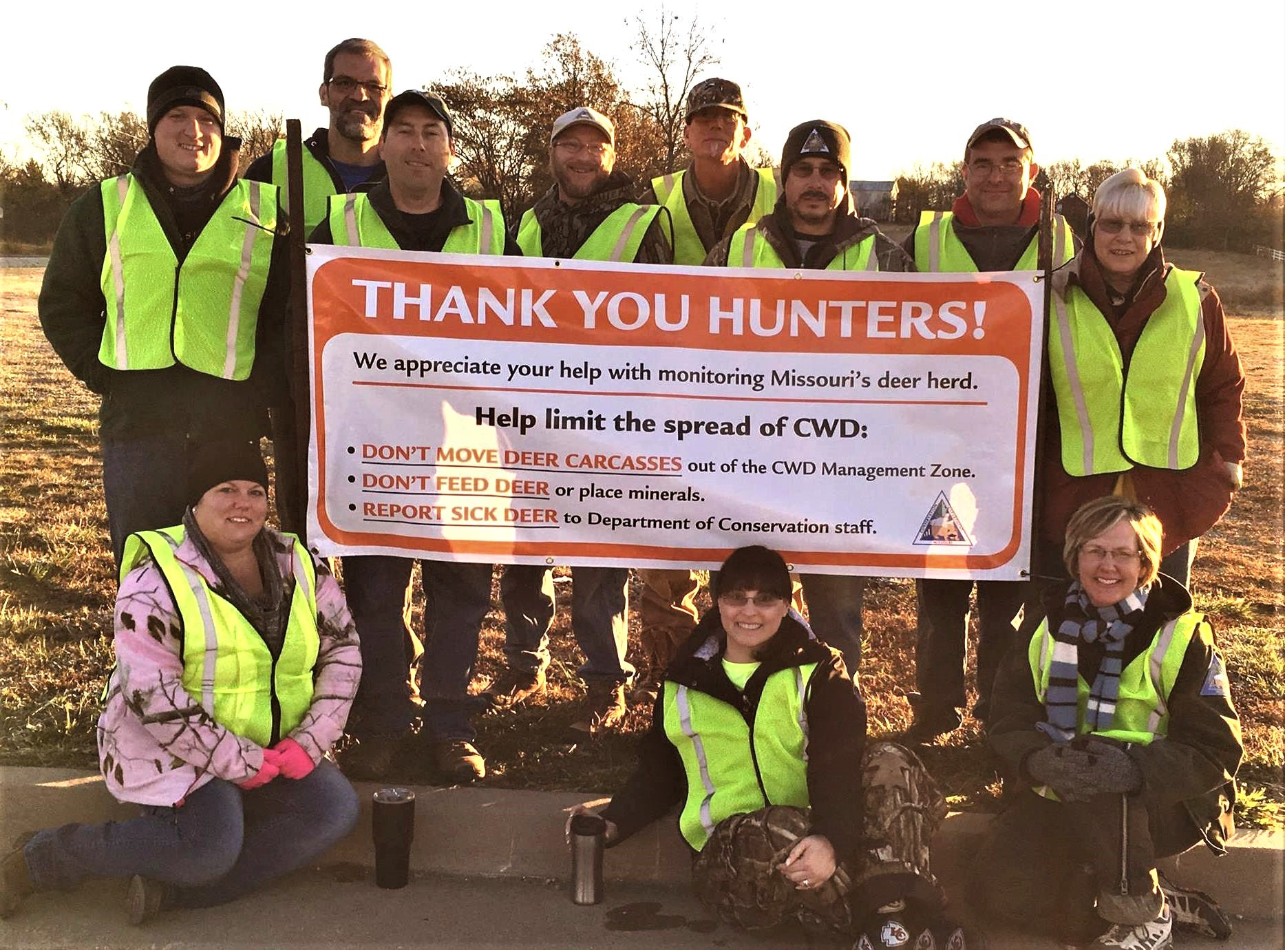 Thank You – These MDC staff were among about 1,200 who collected tissue samples from hunter-harvested deer to test for chronic wasting disease.