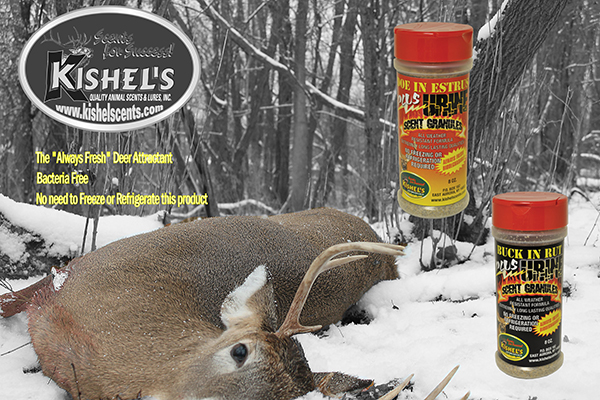 "Doe-In-Estrus scent is the ""hot scent"" during the annual Whitetail Deer rut cycle."