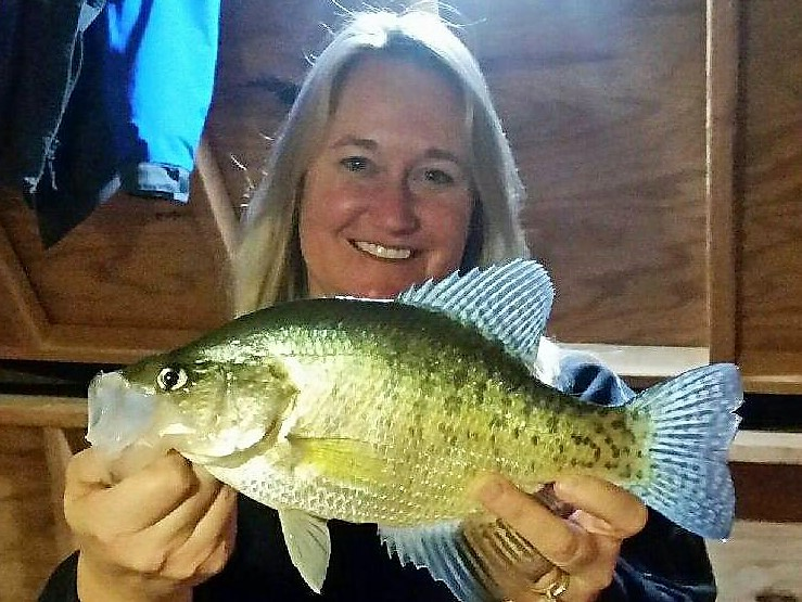 Stacy Ferrell Hedberg has become a master at catching big crappie for the last several years. Her secret is simple: stay comfortable, fish with your friends and family, keep it simple. Jeff Hedberg Photo