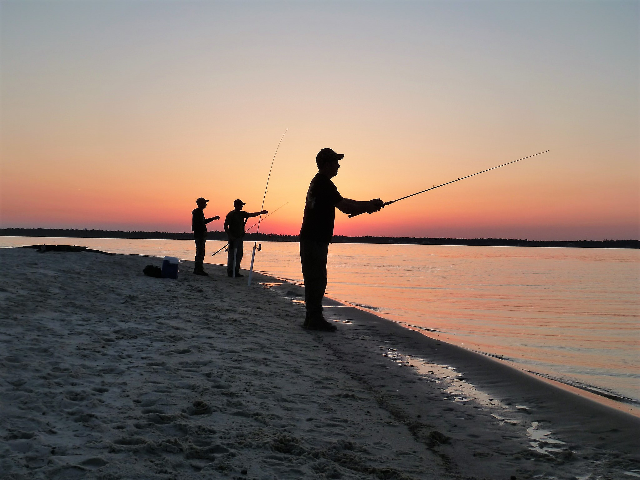 Fishing from shore at Escribano Point WMA can offer fun and a palatable dinner feast for anglers.  Photo courtesy of Florida Fish & Wildlife (FWC)