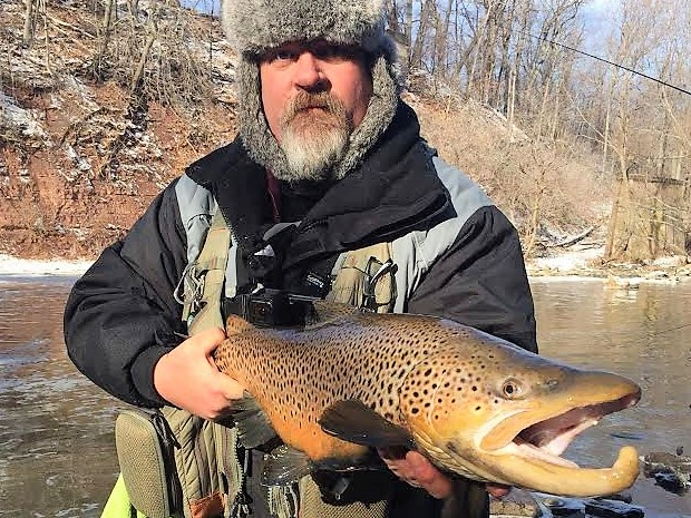 Nice winter brown trout from 18-Mile Creek at Burt Dam caught by Greg Schloerb of Amherst, NY.