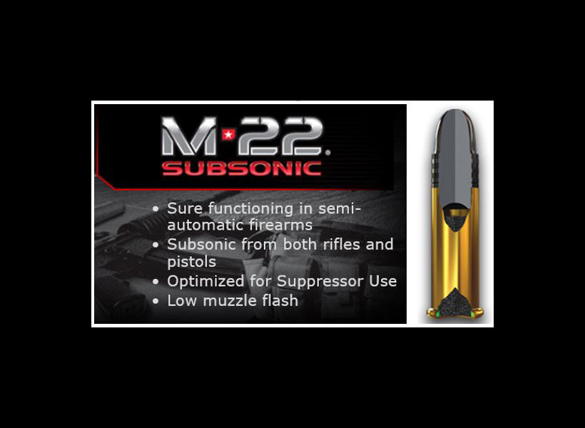 New Winchester M-22 Subsonic Ammo
