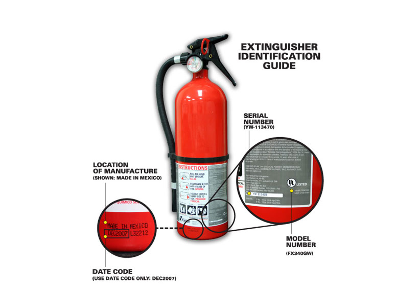 Fire Extinguisher Recall - May Not Put Out The Fire