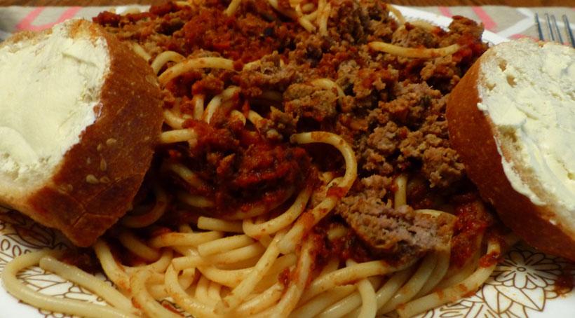 Gluten-Free Venison Spaghetti