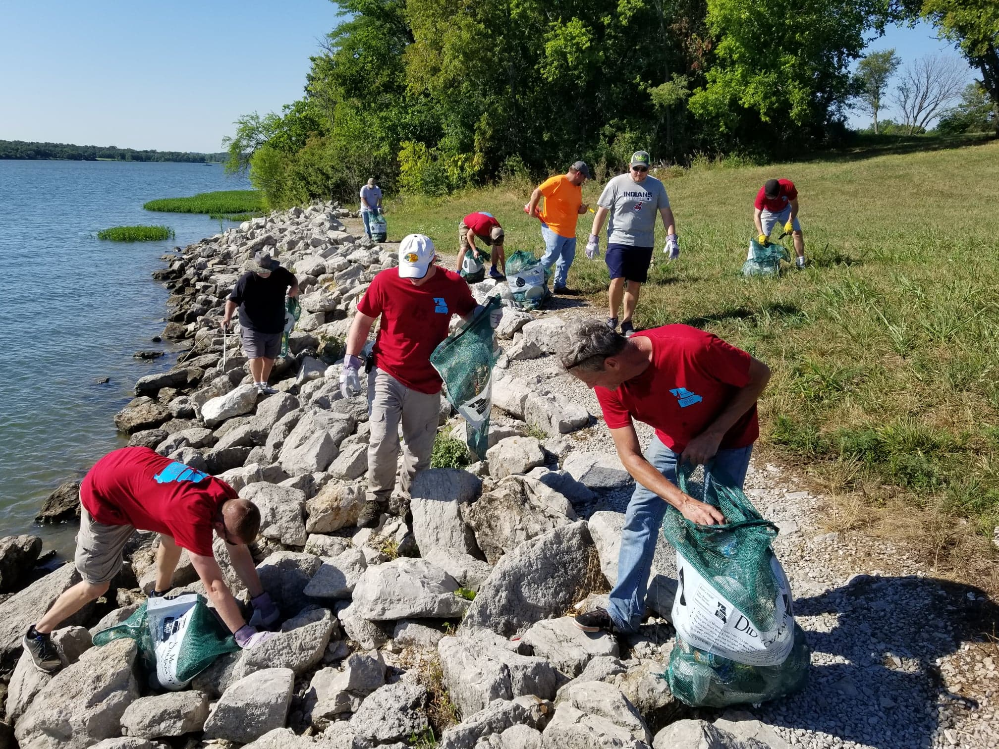 Lee's Summit Area Fishing FB group helps clean up around Longview Lake