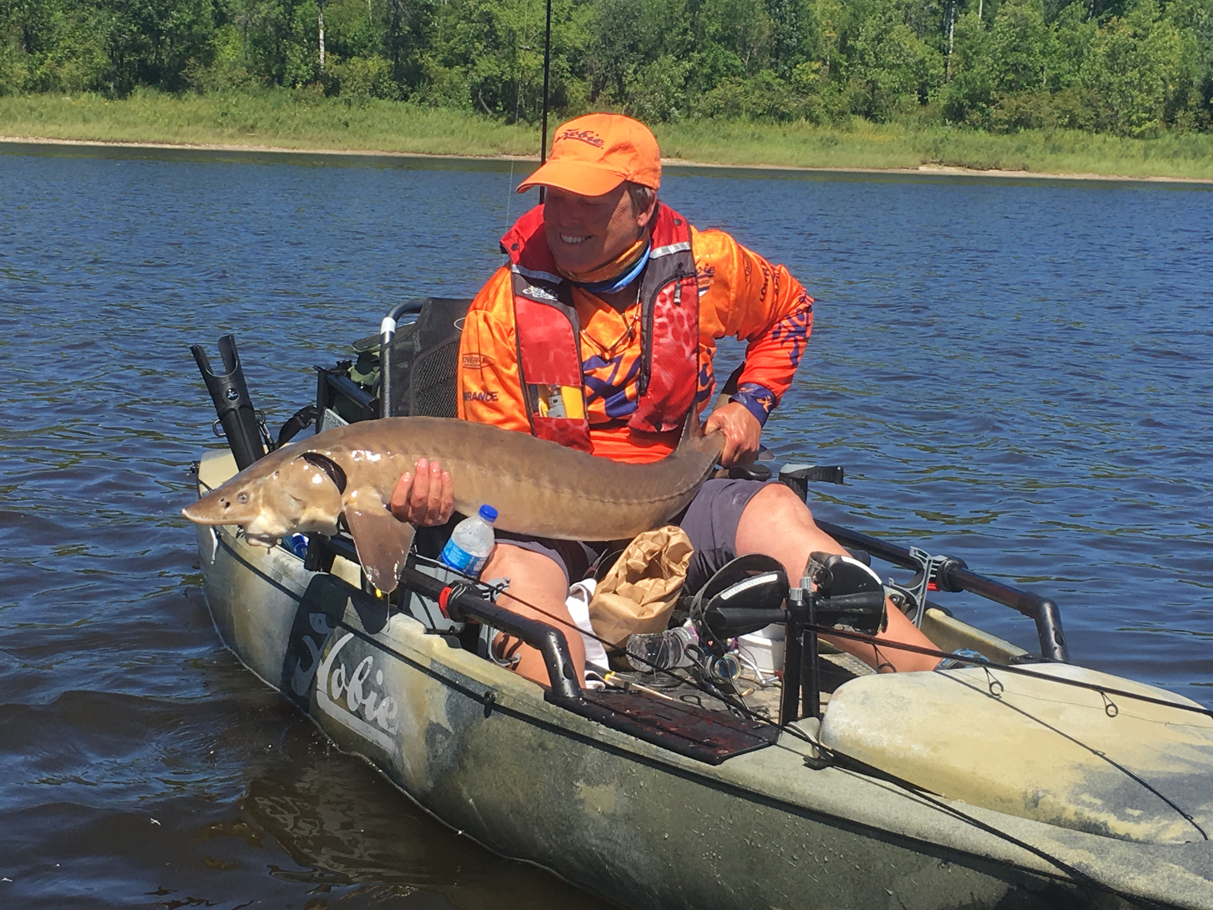 Kayak angling for sturgeon brings new sport to the Northwoods
