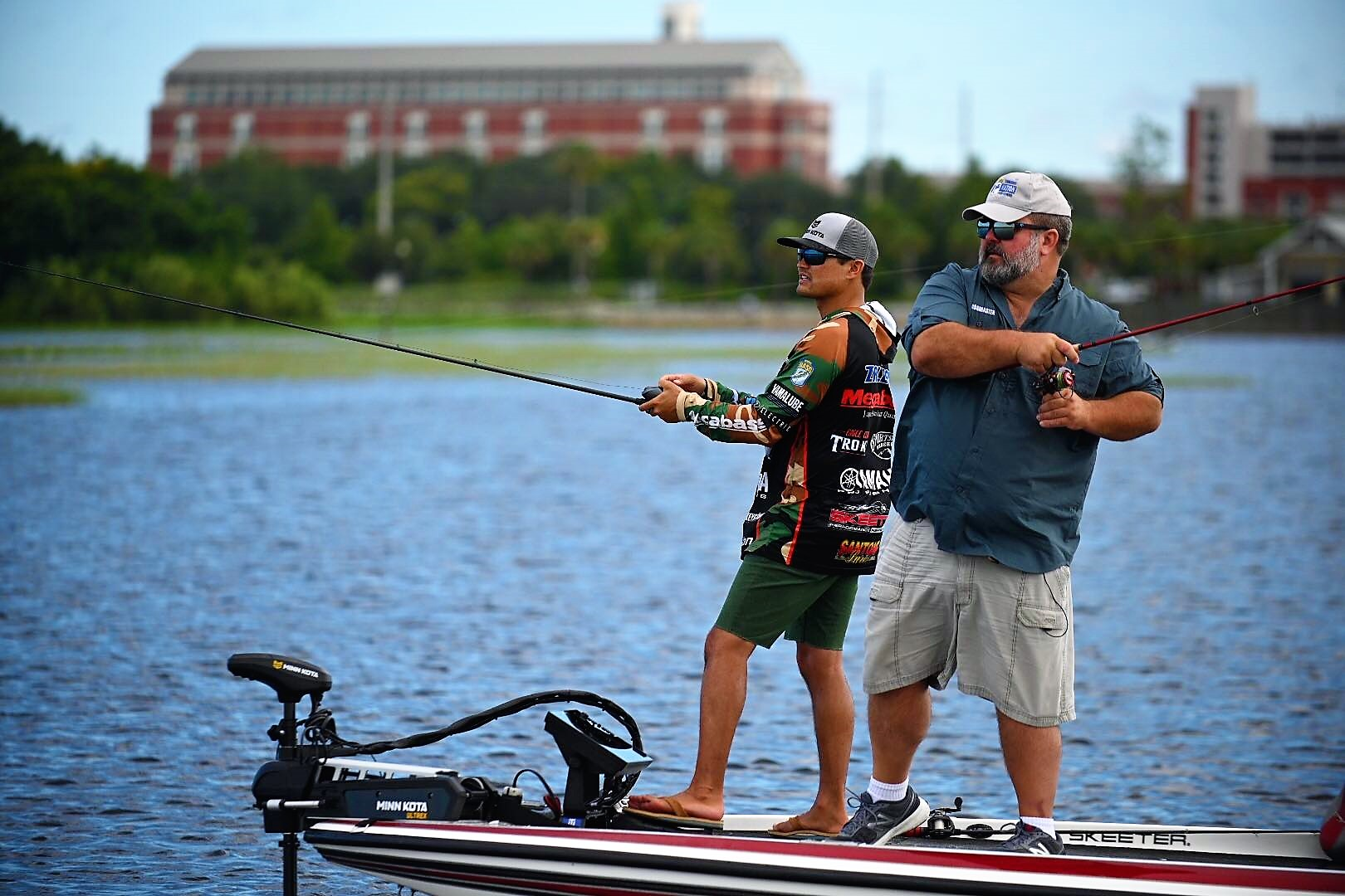 Deserving High School Angler Coach and U.S. Army Veteran, David Lowrie, grateful for Humminbird®and Minn Kota®Complete Boat Overhaul surprise at ICAST 2019