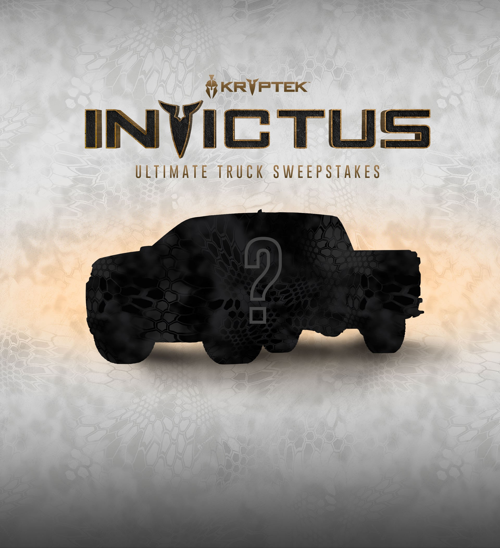 "Epic Sweepstakes Announced by Kryptek® Outdoor Group and CarbonTV® for ""INVICTUS"": A Customized 2019 Chevy Silverado worth nearly $100,000"