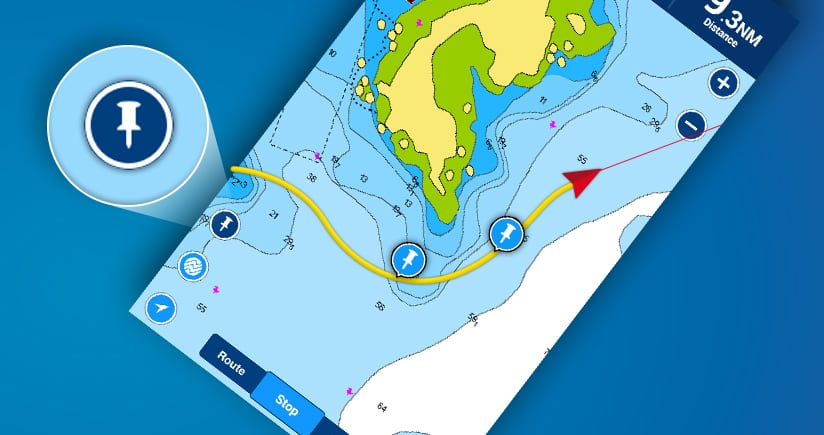 Navionics Boating app: mark your location with one tap, and more