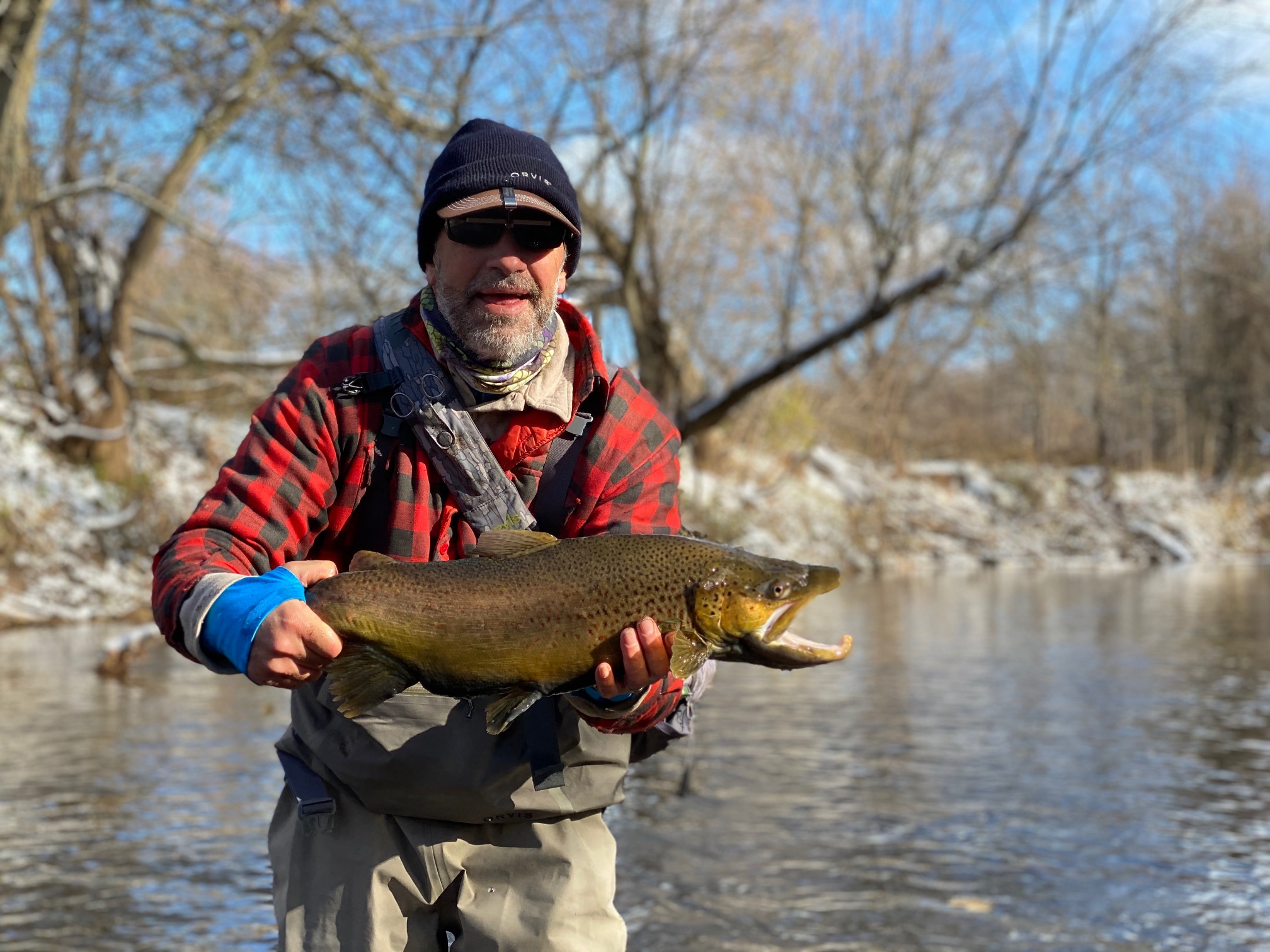 Winter weather brings Brown Trout and Steelhead action - Orleans County, NY