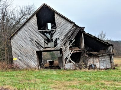 Remarkable Hunting - Lightning, Rain, one Old Barn and one Old Deer
