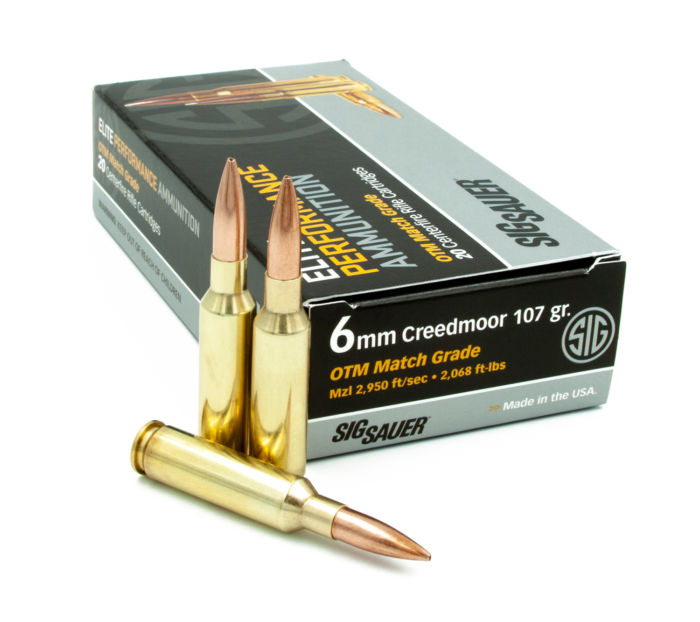 New 6mm Creedmoor Elite Match Ammunition from SIG SAUER